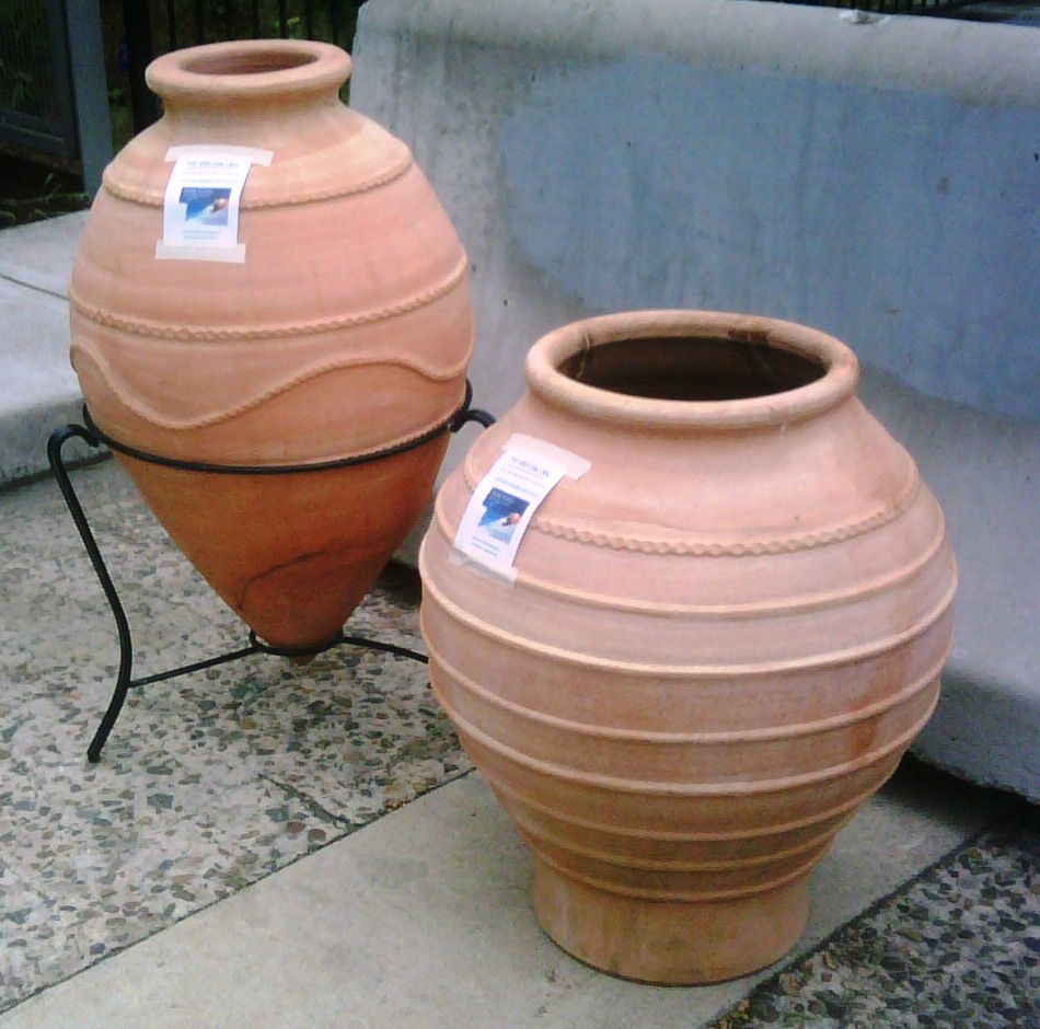 Grecian Urns at Pre Loved Roots Garden Nursery