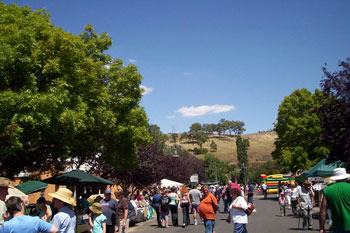 Australia Day crowds in Carcoar, NSW