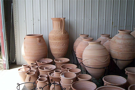 Grecian Urn pots in storage